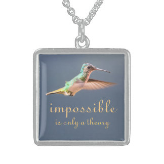 Hummingbird Silver Motivational Necklace