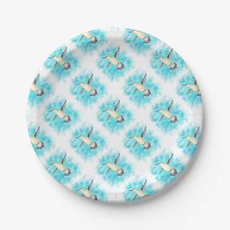 Hummingbird Sky Paper Plate