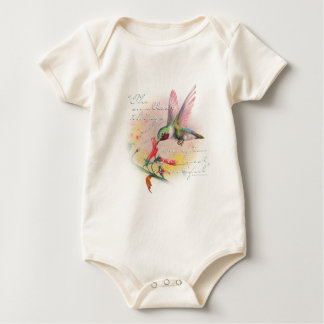 Hummingbird - Small things are the most beautiful. Baby Bodysuit