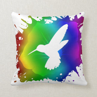 Hummingbird Splash Cushion