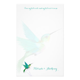 Hummingbird Swirl Stationery