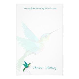 Hummingbird Swirl Stationery