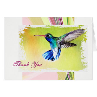 Hummingbird Thank You Note Card