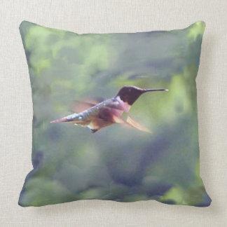 Hummingbird Throw Pillow Original Photo
