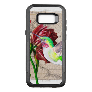 Hummingbird Tulip Map OtterBox Commuter Samsung Galaxy S8+ Case