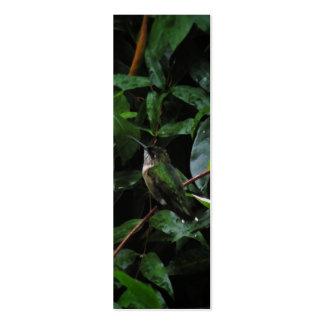 Hummingbird Watercolor Bookmark Business Card Template