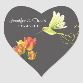 Hummingbird Wedding Favor Sticker