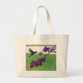 Hummingbird with Orchid Bags