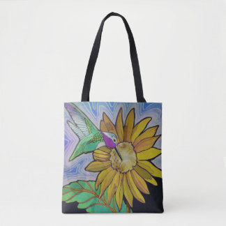 Hummingbird Woman Tote Bag