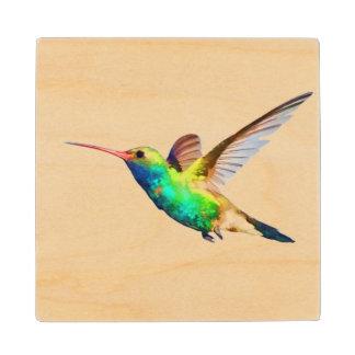 Hummingbird Wood Coaster