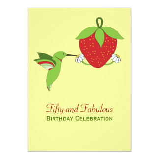 Hummingbirds 50th Birthday Invitation