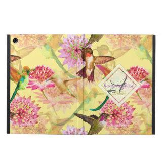 Hummingbirds and Astrantia Monogram Watercolor Case For iPad Air
