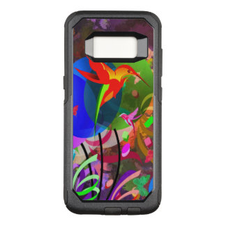 Hummingbirds and butterflies colorful abstract OtterBox commuter samsung galaxy s8 case
