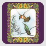 Hummingbirds and Flowers #2 Stickers