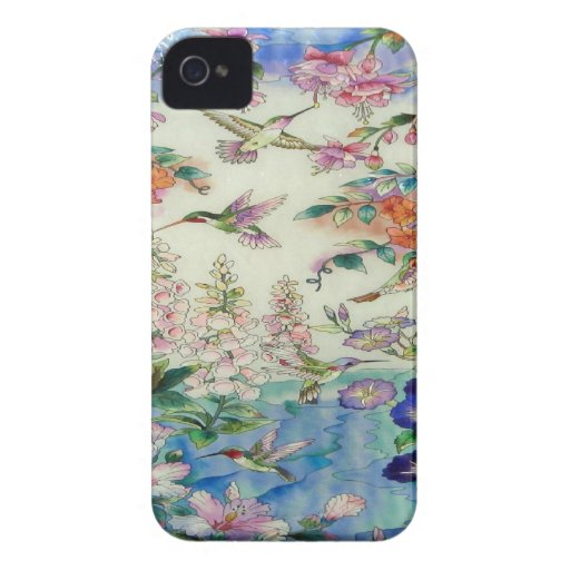 Hummingbirds and Flowers Blackberry Case-Mate Case