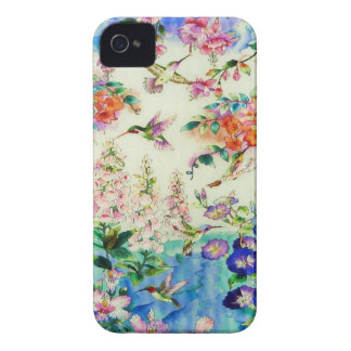 Hummingbirds and Flowers Case-Mate Case for iPhone iPhone 4 Case