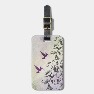 Hummingbirds and Flowers Luggage Tag