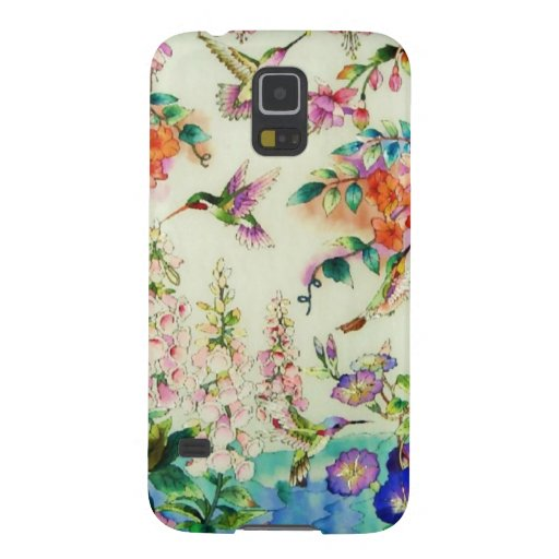 Hummingbirds and Pink Flowers Galaxy Nexus Cover