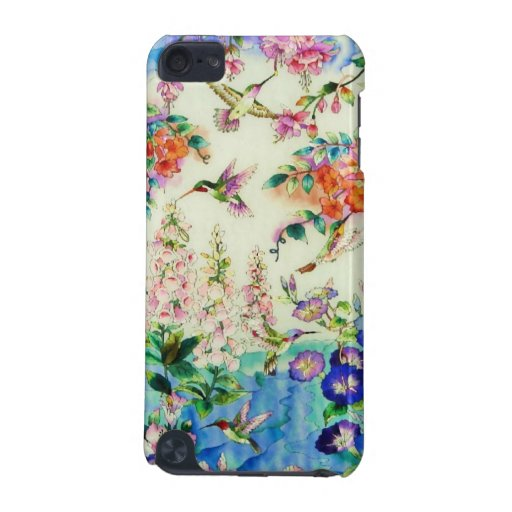 Hummingbirds and Pink Flowers iPod Touch 5G Cases