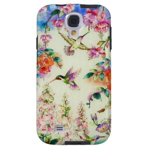 Hummingbirds and Pink Flowers Galaxy S4 Case