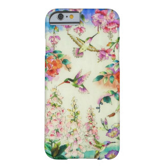 Hummingbirds and Pink Flowers iPhone 6 case Barely There iPhone 6 Case