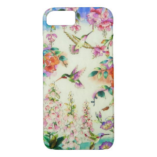 Hummingbirds and Pink Flowers iPhone 7 case