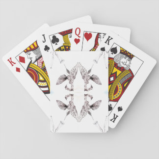 Hummingbirds and Trumpet Flowers Playing Cards