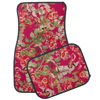 Hummingbirds Audubon Bird Floral Flower Floor Mats