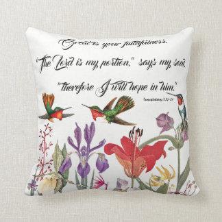 Hummingbirds Birds Flowers Gods Faith Throw Pillow