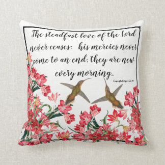 Hummingbirds Birds Flowers Gods Love Throw Pillow