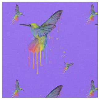HummingBirds Blue and Brights Fabric
