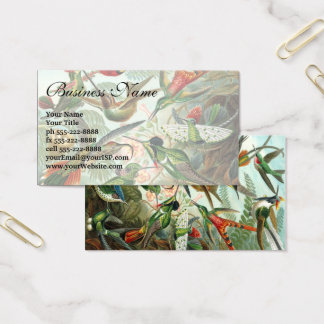 Hummingbirds by Ernst Haeckel, Vintage Birds Trees Business Card