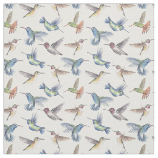 Hummingbirds Fabric