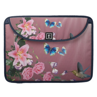 Hummingbirds Flowers Butterflies Macbook Sleeve MacBook Pro Sleeves