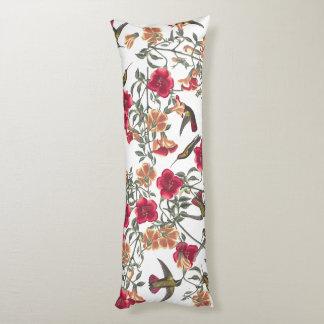 Hummingbirds Flowers Floral Audubon Body Pillow