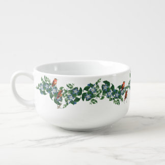 Hummingbirds Flowers Floral Birds Soup Mug Bowl