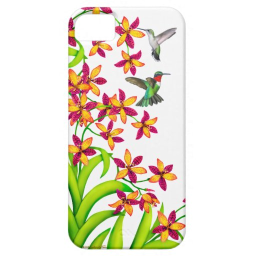 Hummingbirds in Candy Lily Flowers iPhone Case iPhone 5 Cover