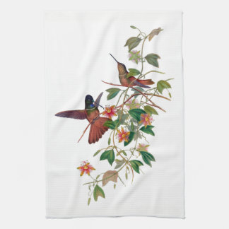 Hummingbirds in Passion Vine  Kitchen Towel