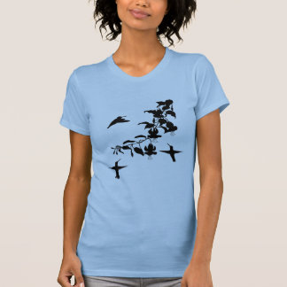 Hummingbirds Ladies Shirt- Pale Blue T-Shirt