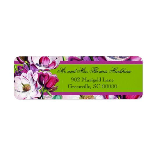 Hummingbirds Magnolias Personalised Address Labels