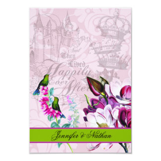 Hummingbirds Magnolias RSVP Card
