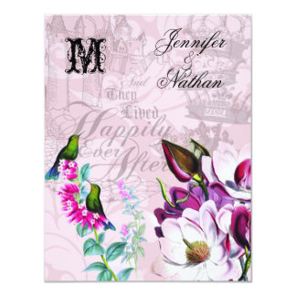 Hummingbirds Magnolias Wedding RSVP Card
