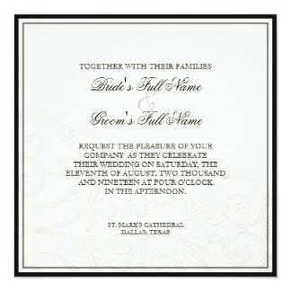 Hummingbirds n Swirls  - Wedding Invitation
