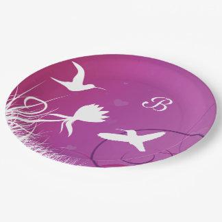 Hummingbirds Paper Plate