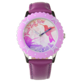 Hummingbirds Personalized Watch