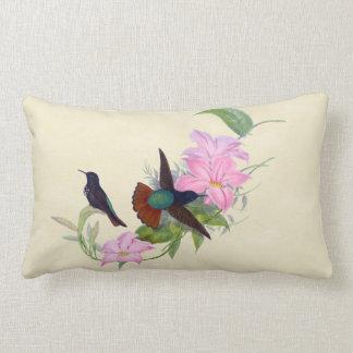 Hummingbirds Pink Floral Indoor Pillow 16x16