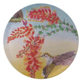 Hummingbirds Plate