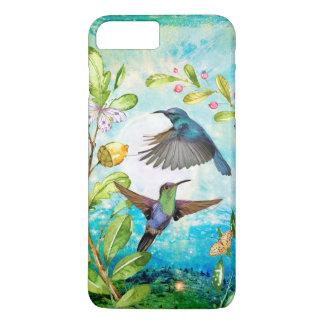 Hummingbirds Sunrise Watercolor Nature Lover Art iPhone 8 Plus/7 Plus Case