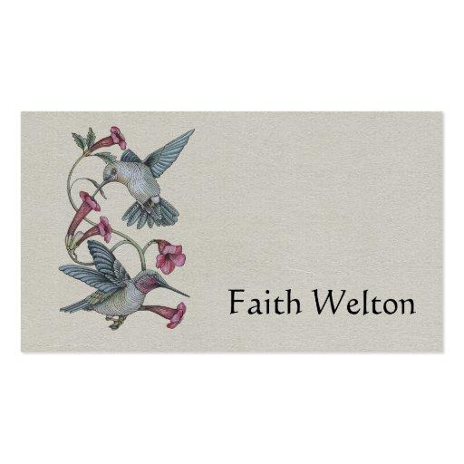 Hummingbirds & Vine Business Card Template