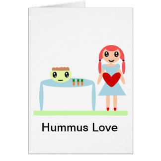 "Hummus Love ""I love hummus"" Greeting Card"